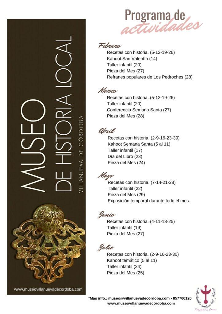 Programa de actividades Museo